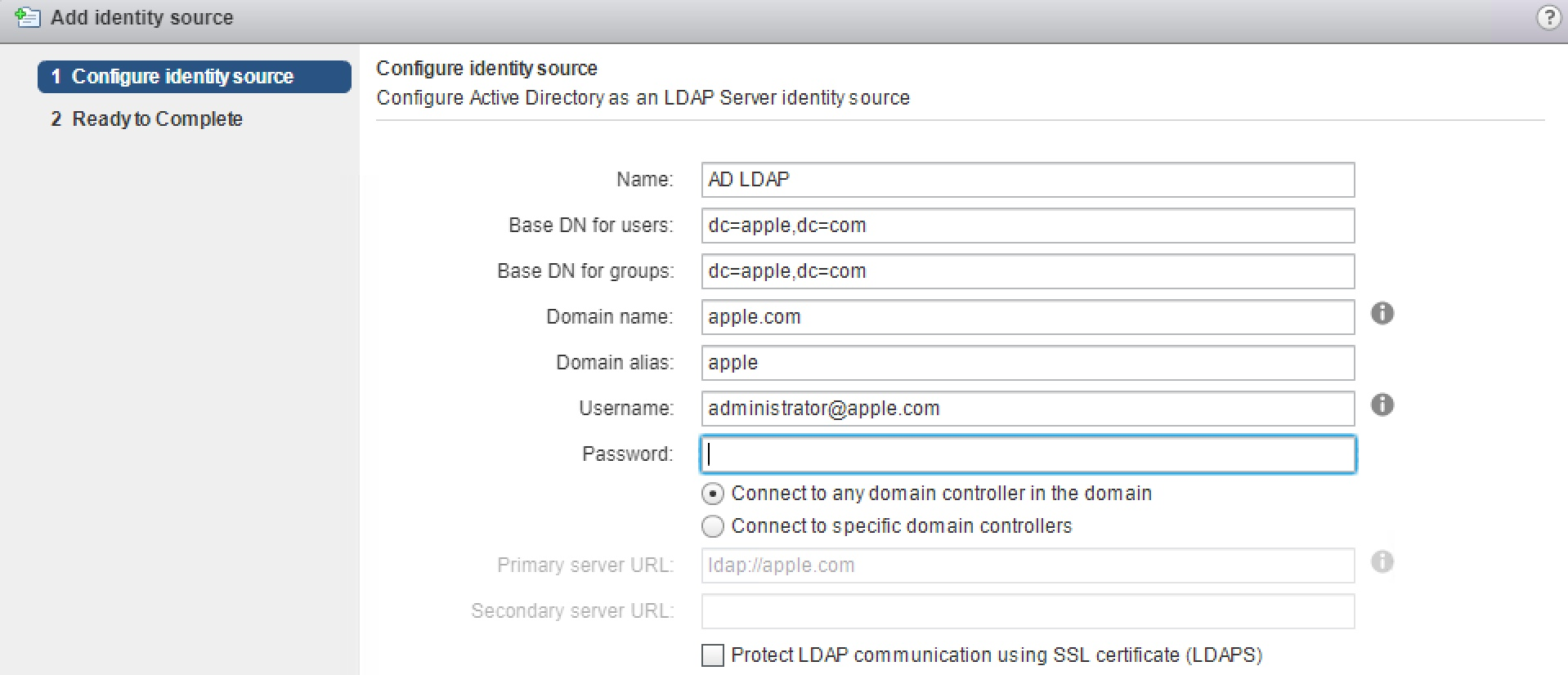 Active Directory Authentication with VMware vCenter Server 6 5